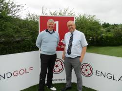 Mr Slumbers pictured here with Club Manager Terry Walker