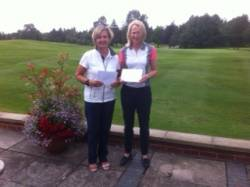 Sally Kay & Fiona Woolley of Wilmslow Golf Club - winners of the Regional Final held at Kirby Muxloe.